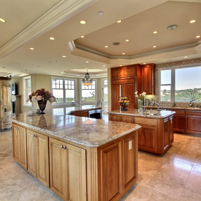 silicon valley mansion grand kitchen